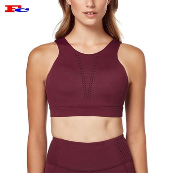 Dongguan Athletic Running Apparel Manufacturers Sexy V Back Training Bras Custom Made Maximum Support Crane Sports Bra