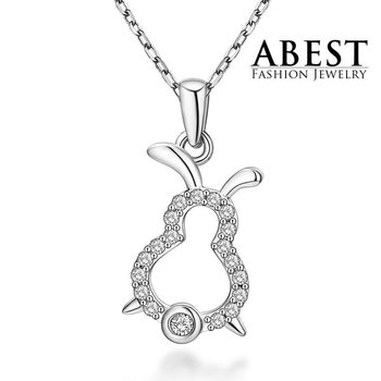 Hot Sale Animal Pendant Sterling 925 Silver Plating 18K White Gold Elegant Pendant Necklace Jewelry