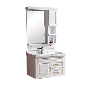 2016 Competitive Hot Product PVC Mirrored Wash Hand Basin Cabinet