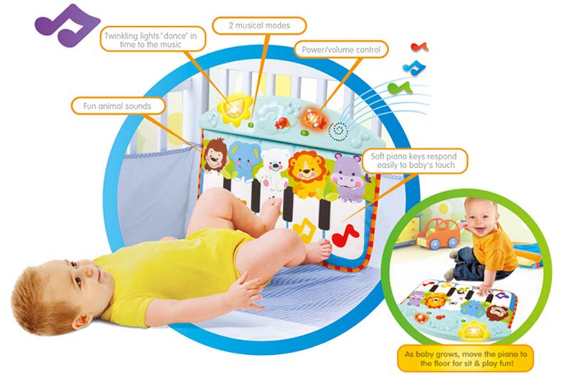 Non Toxic Mult Function Precious Activity Crib Mats Baby Keyboard