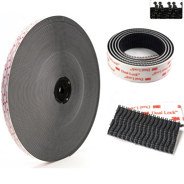 TapeCase 3-4-10-SJ3550 3M SJ3550 Dual Lock Reclosable Fastener Pack of 10 3 Wide 4 Length Rectangle Black
