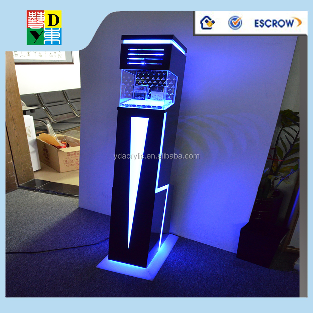 Led Acrylic Tobacco Merchandising Racks/ Blue Acrylic Electronic ...