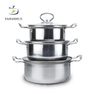 Factory Price Metals 6pcs Happy Baron Stainless Steel Cookware Set