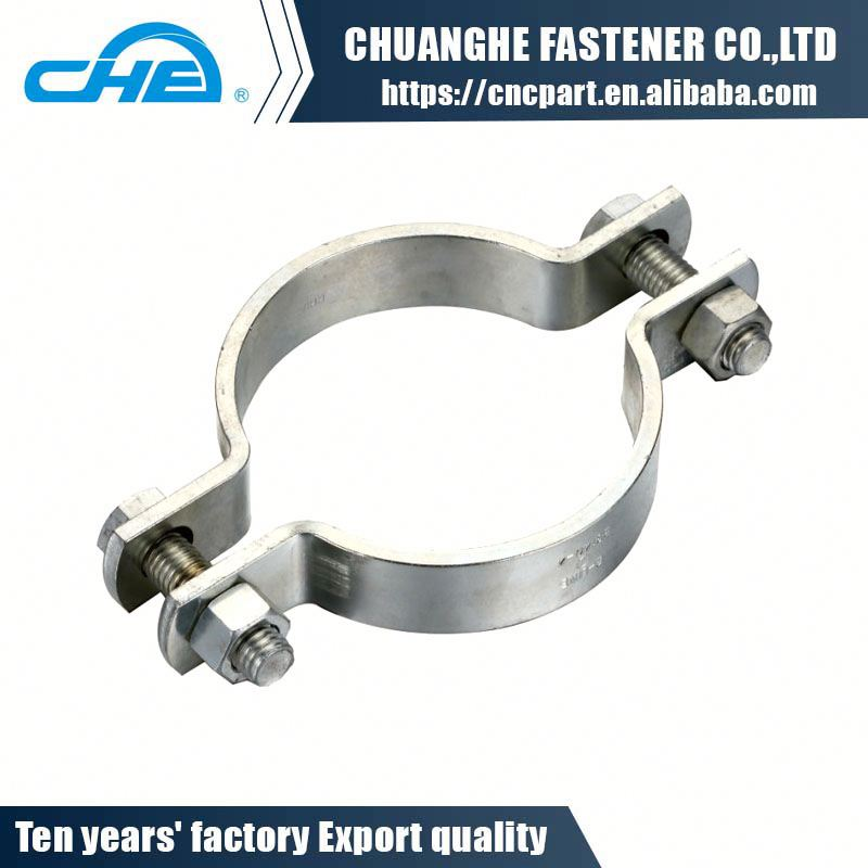 High quality heavy double bolt safety pipe clamp