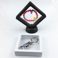 9x9x2cm plastic floating frame boxes jewelry and USB display frame