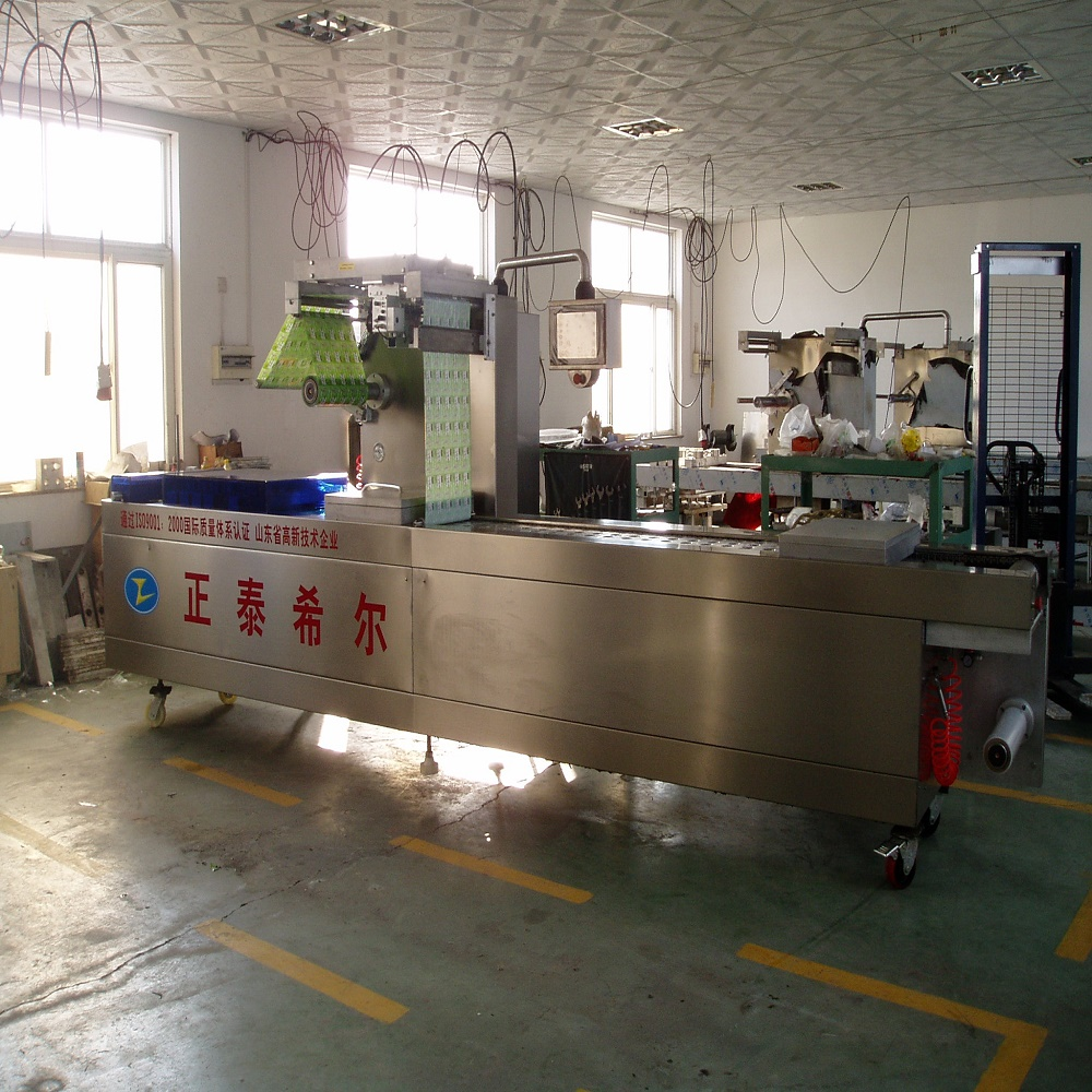 Automatic Stretch Film Packing Machine Equipped With Grided Moulds