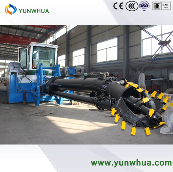 yam pounding used bucket cutter suction dredger machine