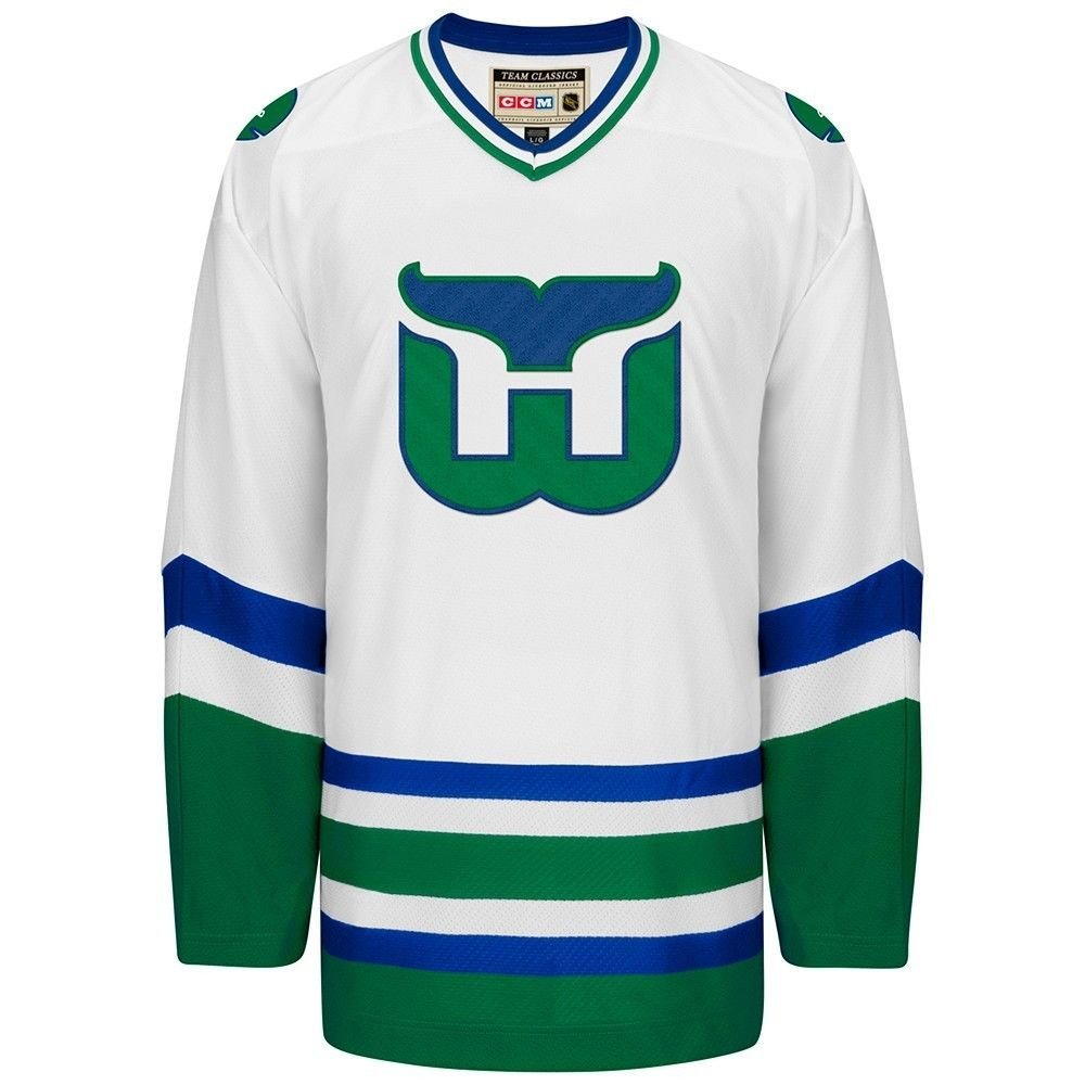 Get Quotations · Hartford Whalers White CCM Throwback Premier Edge Jersey 891676f54