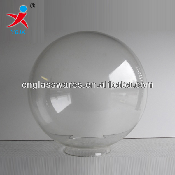 Mouth Blown Clear Glass Globe Lamp Shade / Glass Ball Cover - Buy ...