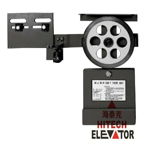 Elevator overspeed governor, tension device