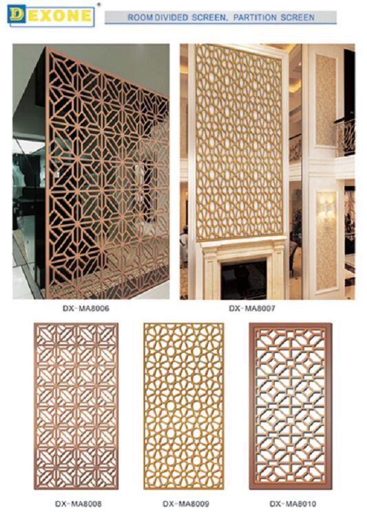 Marvelous Aluminum Laser Cut Panels Metal Screen For Room Divided Partition Panels  Dcoration