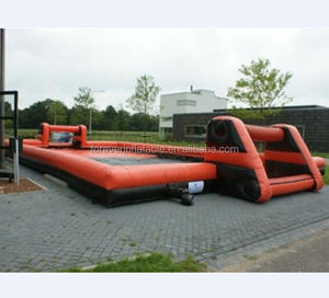 Factory outlet red inflatable football field,inflatable soccer pitch