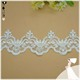 Factory price fancy embroidery sequined Organza lace trim for bridal veil