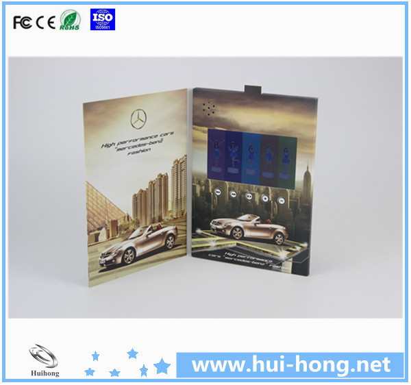 2.4 4.3 5 7 10 Inch Lcd Video Greeting Card Brochure And Book For ...