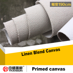 74''/190cm Coat Width 591gsm Triple-primed Extra Rough Texture Cheap Canvas Printing Art