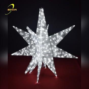 3d exploding star led decoration light christmas light