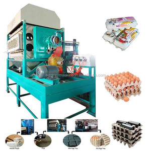 Egg Tray Forming Machinery egg carton box making machine Using waste paper Agricultural Waste Rice Straw Material