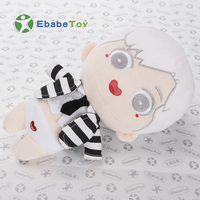 Ebabe Manufacture OEM small cartoon Mascot design soft plush stuffed character toys boys dolls