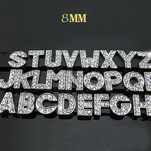 Factory direct wholesale high quality DIY rhinestone slide charm 8mm/10mm/30mm slide letter