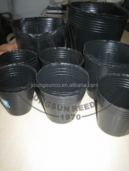 Black Plastic Flexible Pots For Nursery