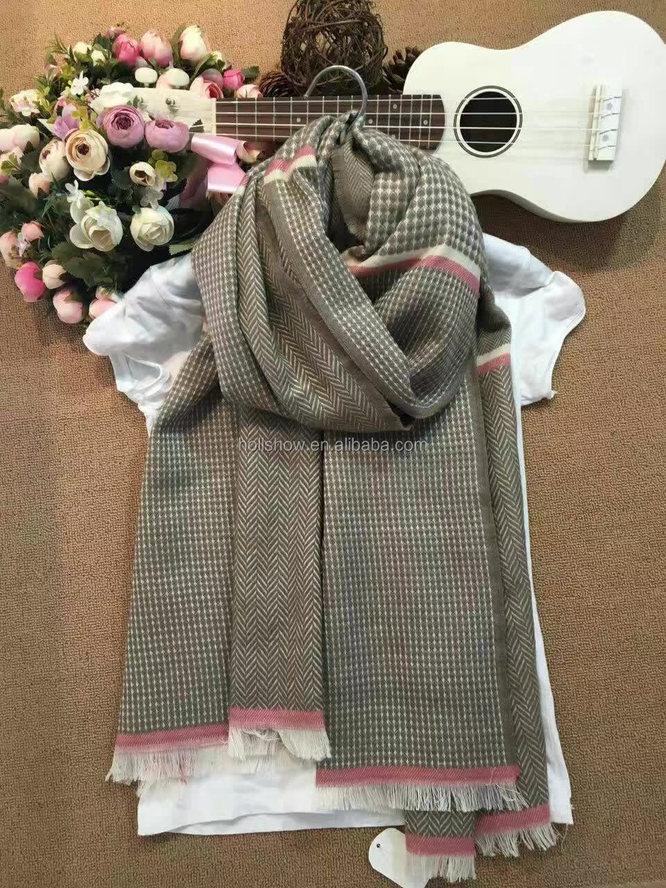 2016 Winter Men Women Warm Thick Blanket Plaid Cashmere Scarfs