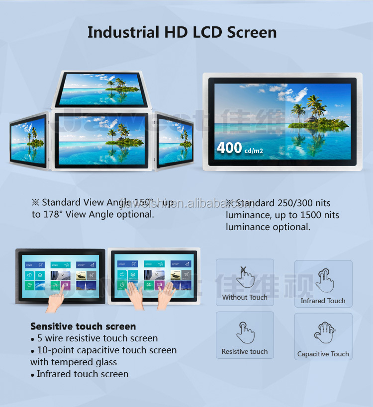 7 inch Thin Android All in One PC Capacitive Touch Panel PC IP65 Industrial Touch PC