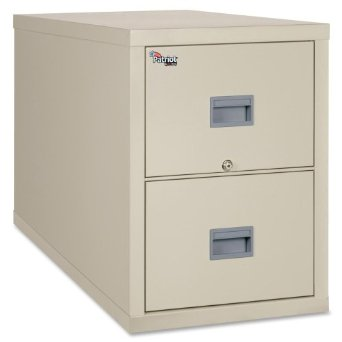 """FireKing Patriot Series 2-Dr Vertical Fire Files - 20.8"""" x 31.6"""" x 27.8"""" - Gypsum, Steel - 2 x File Drawer(s) - Legal - Fire Proof, Impact Resistant, Locking Drawer, Scratch Resistant, Recessed Handle, Ball Bearing Slide - Parchment"""