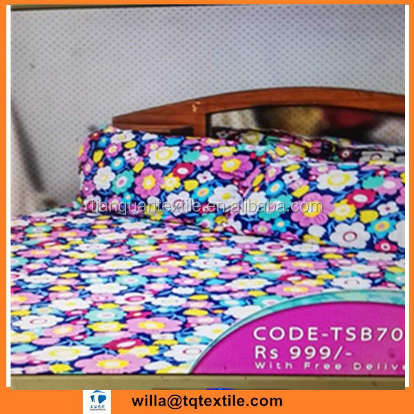 Cheap price stock lot disperse printed 100% polyester fleece bedsheet fabric from China