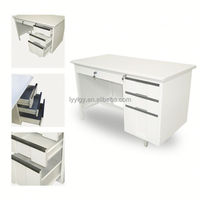 high quality combination desk and table with hanging drawer