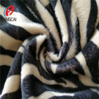Zebra Printed 100% Polyester Micro Velboa/Velvet Plush Fabric Sofa Home Textile Wholesale