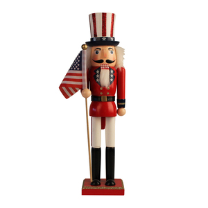 Festival gift home decoration christmas soldier statue wooden nutcracker figure