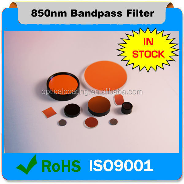850nm Optical Narrow Band pass IR Filters used in camera module &image sensor ,IRIS filters, night vision filters
