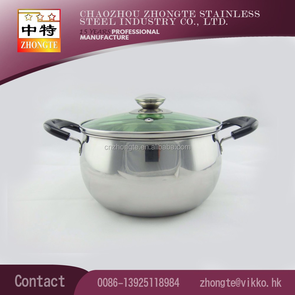 high quality non-magnetic stainless steel Cooking Pot