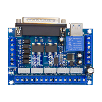 Upgraded 5 Axis Cnc Controller Interface Adapter Breakout Board For Stepper Motor Driver Mach3 Usb