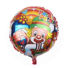 Factory hot sell aluminum helium round joker twins patata cartoon character foil balloon for happy birthday gift