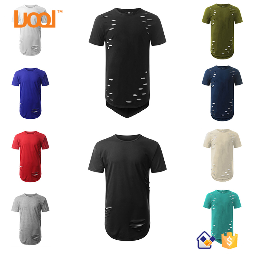 Cheap Custom OEM Short Sleeve Blank Distressed One Piece T Shirt