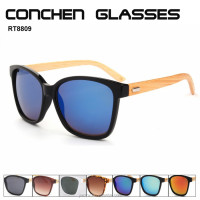 Sun glasses natural wholesale colored bamboo sun shade glasses