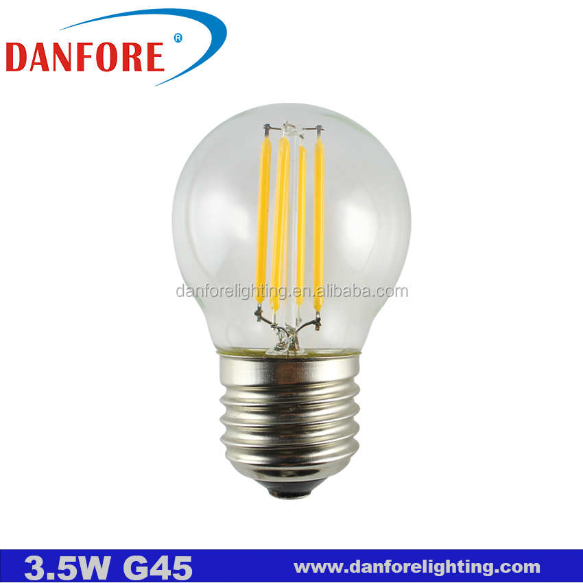 <strong>E27</strong> 3.5W P45 G14 G45 Golf Vintage light lamps Edison glass LED Bulb