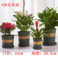 3 gallon plastic PP plant pots wholesale with dark green color round shape