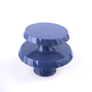 2 Tier acrylic factory customized ceramic cake stand set wedding cupcake display holder round acrylic display