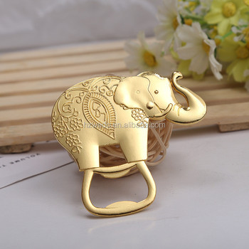 Cheap Wedding Return Gifts Zinc Alloy Gold Elephant Beer Bottle