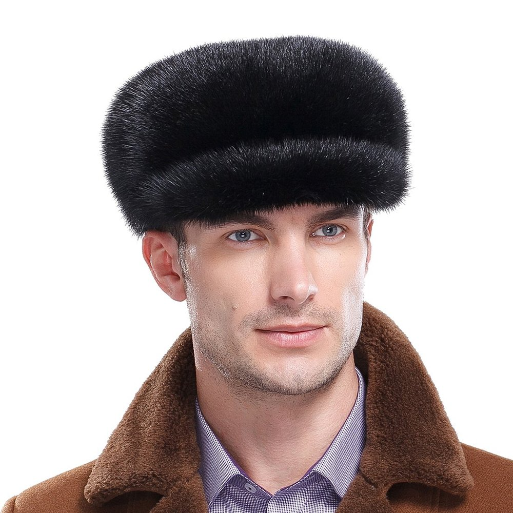 Get Quotations · Mink Full Fur Mink Fur Applejack Hat Newsboy Caps 7b58fc7dace3