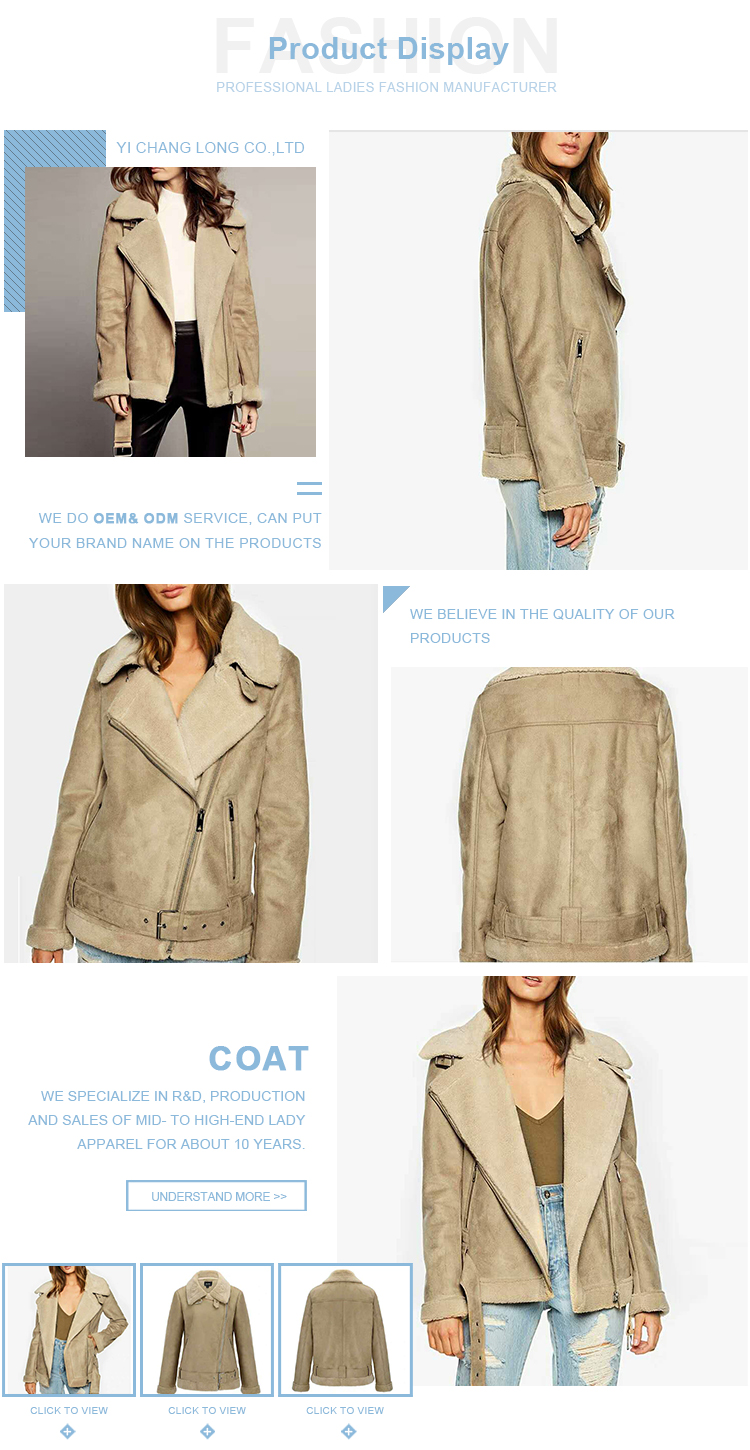 Unique design womens work coat outerwear
