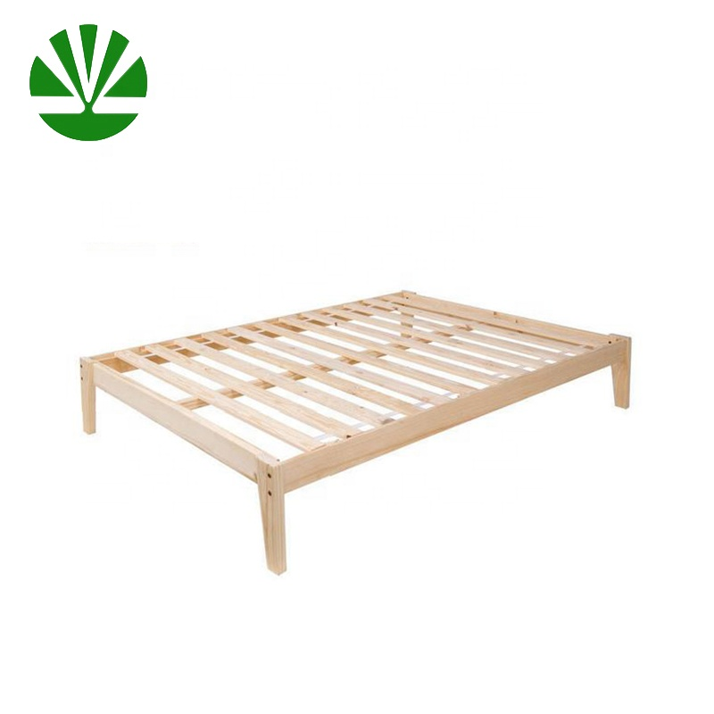 big sale 25659 aee11 Solid Pine Simple In King With Slats Bed Frame Wood - Buy Bed Frame  Wood,King Size Wood Bed Slats,King Size Bed Frame Product on Alibaba.com