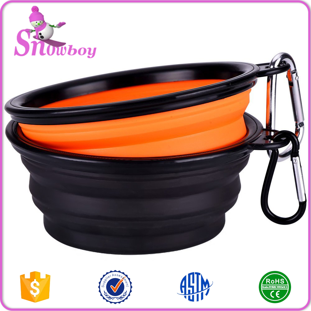 Collapsible Travel Silicone Dog Bowl Portable Food Bowl Set of 2