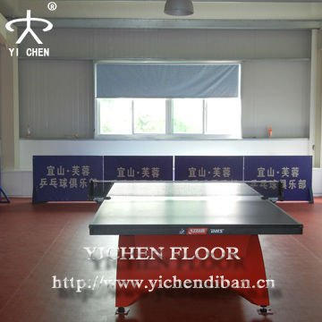 Vinyl Flooring for Table Tennis Usage