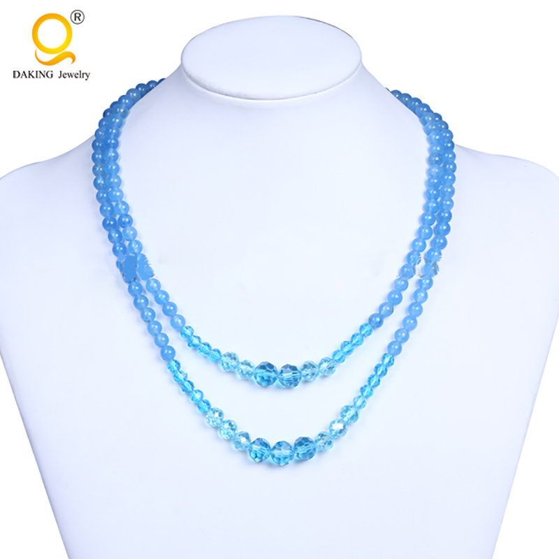 Blue stone beads necklaces in mexico