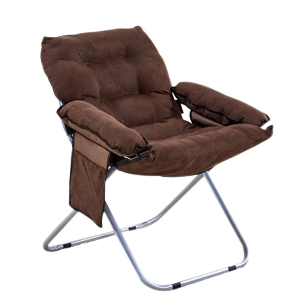 Get Quotations Moon Chair Lazy Folding Brown Sun Loungers Single Recliners Adjule Chairs Size