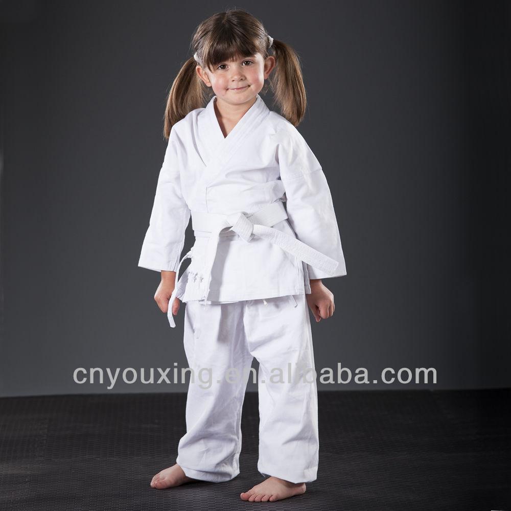 Blanco Ni/ños K/árate Traje Libre Blanco Cintur/ón infantil K/árate Traje