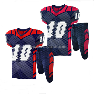 Low MOQ New Model Football Jersey Cheap Youth Custom American Football Uniform